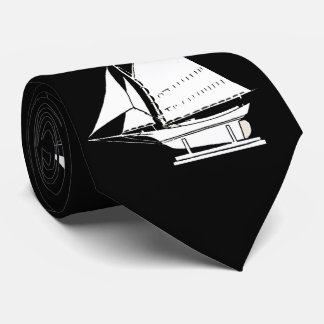 Segelboot-Silhouettedruck Krawatte