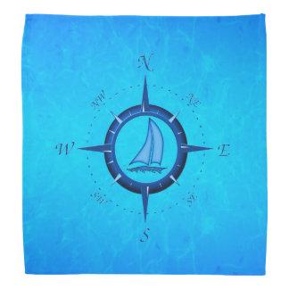 Segelboot-und Kompass-Rose Kopftuch