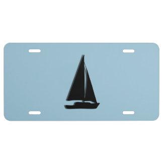 Segelboot US Nummernschild