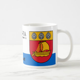 Segelboot-Wappen von Valdemarpils Lettland Kaffeetasse