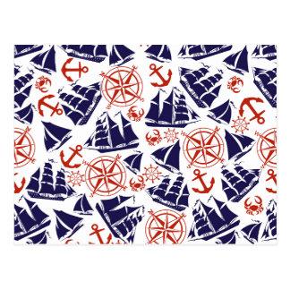 Segeln der Meere Postkarte