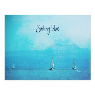 Segeln des Blaus Postkarte