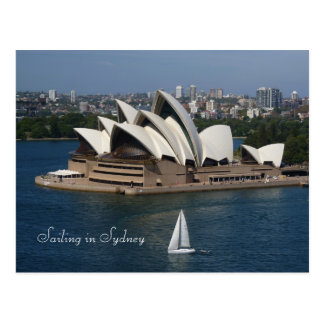 Segeln in Sydney Postkarte