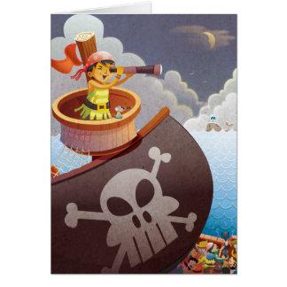 Segeln mit Piraten Mitteilungskarte