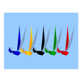 Segeln-   Yachtliebhaber, die Segelboot yachting Postkarte