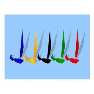 Segeln-   Yachtliebhaber, die Segelboot yachting Postkarten