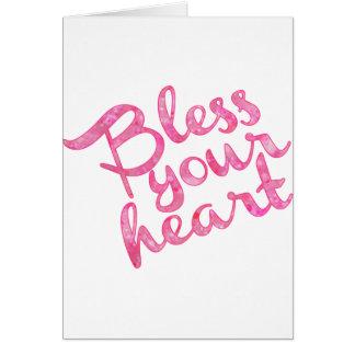 Segnen Sie Ihren Herz-Rosa-Schein Karte