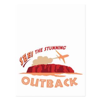 Sehen Sie! Das atemberaubende Outback Postkarte
