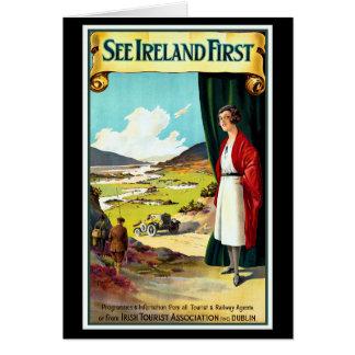 Sehen Sie Irland erstes Grußkarte