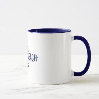 Sehen Sie Sie an der Strandklassiker-Tasse Tasse