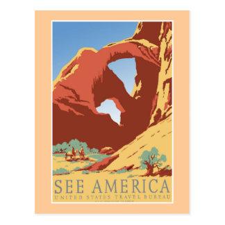 """""""Sehen Sie Vintages Reise-Plakat Amerikas WPA """" Postkarte"""