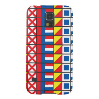 Sehen Sie Worthy_Signal Flaggen pattern_I Liebe zu Hülle Fürs Galaxy S5