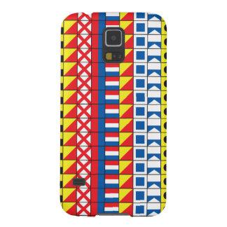 Sehen Sie Worthy_Signal Flaggen pattern_I Liebe zu Samsung S5 Cover