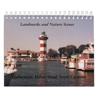 Sehenswürdigkeit-und Natur-Szenen-Kalender Abreißkalender