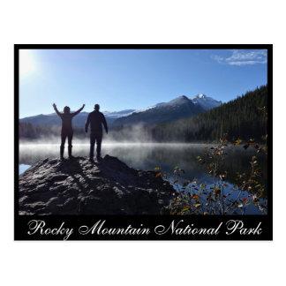 Sehnt sich Spitze im Bear See-felsiger Postkarte