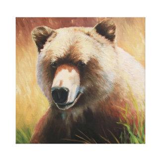Sehr glücklicher Bär Leinwanddruck
