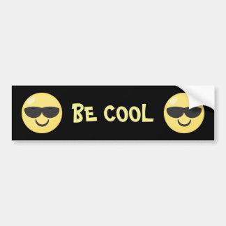 Seien Sie cooler Sonnenbrillen Emoji Autoaufkleber