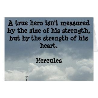 Seien Sie eine Held-Gruß-Karte Karte