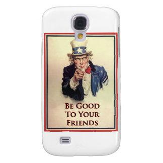 Seien Sie gutes Uncle Sam Plakat Galaxy S4 Hülle