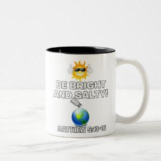 Seien Sie helle u. salzige Kaffee-Tasse Zweifarbige Tasse