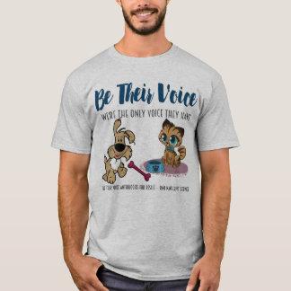 SEIEN Sie IHR Stimme-Hund- u. Katze-Tier T-Shirt