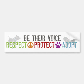 Seien Sie ihre Stimme - Respekt, schützt sich, Autoaufkleber