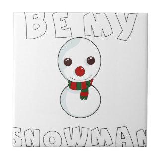 seien Sie mein Schneemann Keramikfliese