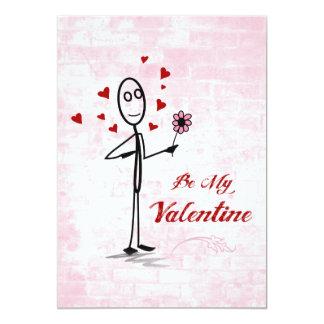 Seien Sie mein Valentinsgruß Personalisierte Ankündigungskarte