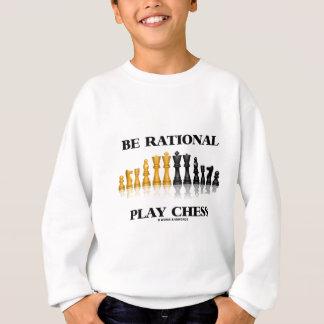 Seien Sie rationales Spiel-Schach (reflektierendes Sweatshirt