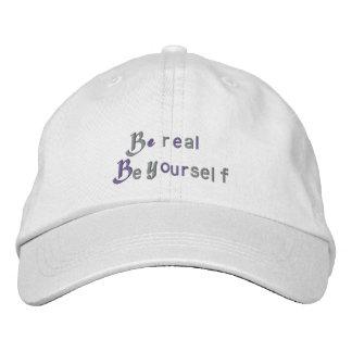 Seien Sie Real_Embroidered Hut Besticktes Baseballcap