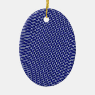 Seil bewegt Hintergrund-Muster wellenartig Ovales Keramik Ornament