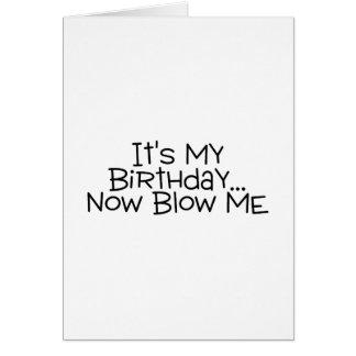 Sein mein Geburtstag brennen mich jetzt durch Grußkarte