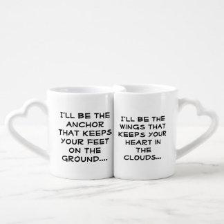 Sein und ihrs Kaffee-Tassen-Set Liebestassen