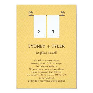 Sein und ihrs Polterabend-Einladung (Gelb) 12,7 X 17,8 Cm Einladungskarte