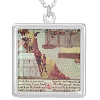 Seite 'von Histoire du Grand Alexandre' Halskette Mit Quadratischem Anhänger