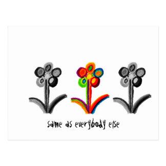 Selben wie jeder sonst Blumen Postkarte
