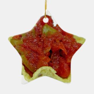 Selbst gemachte Salsa Keramik Stern-Ornament
