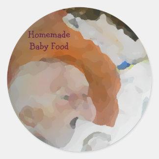 Selbst gemachte Säuglingsnahrung Runder Aufkleber