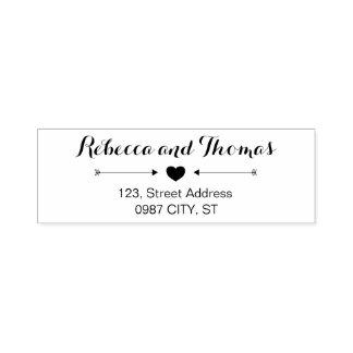 Selbst-mit Tinte schwärzende Hochzeits-Briefmarke Permastempel