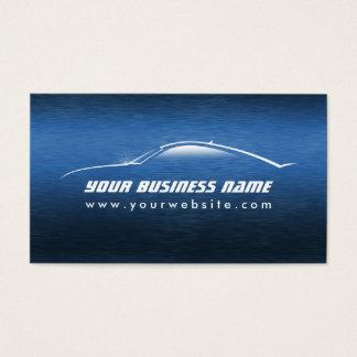 Selbstbewegende coole blaue Auto-Kontur Visitenkarten