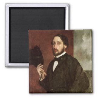 Selbstporträt Edgar Degass  , c.1862 Quadratischer Magnet