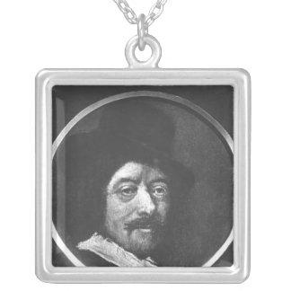 Selbstporträt Halskette Mit Quadratischem Anhänger