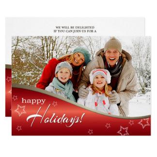 Selebrate die Jahreszeit. WeihnachtsParty Karte