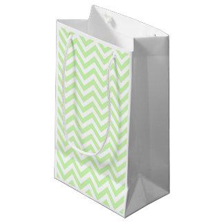 Sellerie-Grün, weißes großes Zickzack Kleine Geschenktüte