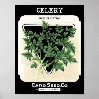 Sellerie-grüne Karten-Samen Co. Fredonia, NY Poster