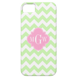 Sellerie weißes Zickzack rosa Quatrefoil 3 Barely There iPhone 5 Hülle