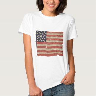 Seltene 1850-1865 Stern US-Flagge des Zeitraum-25 T-shirt