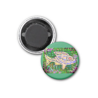 Seltene goldene Fische - Fantasie-Fantasien Runder Magnet 2,5 Cm