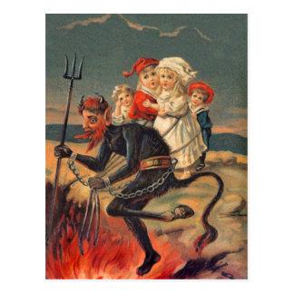 Seltene Redheaded Krampus Postkarte