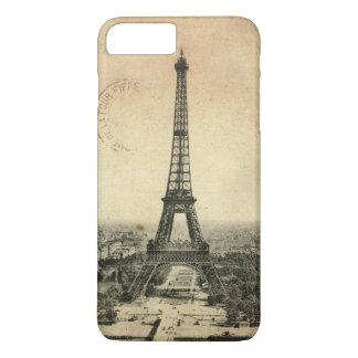Seltene Vintage Postkarte mit Eiffel-Turm in Paris iPhone 8 Plus/7 Plus Hülle